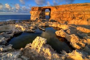 Una de las estampas naturales más bonitas de Malta. Pero en Gozo, en la hermana menor. Foto de Downwind.