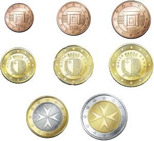 La moneda utilizada en Malta es el euro. Aquí les dejamos una fotografía de todas las monedas para irse familiarizando con ellas.