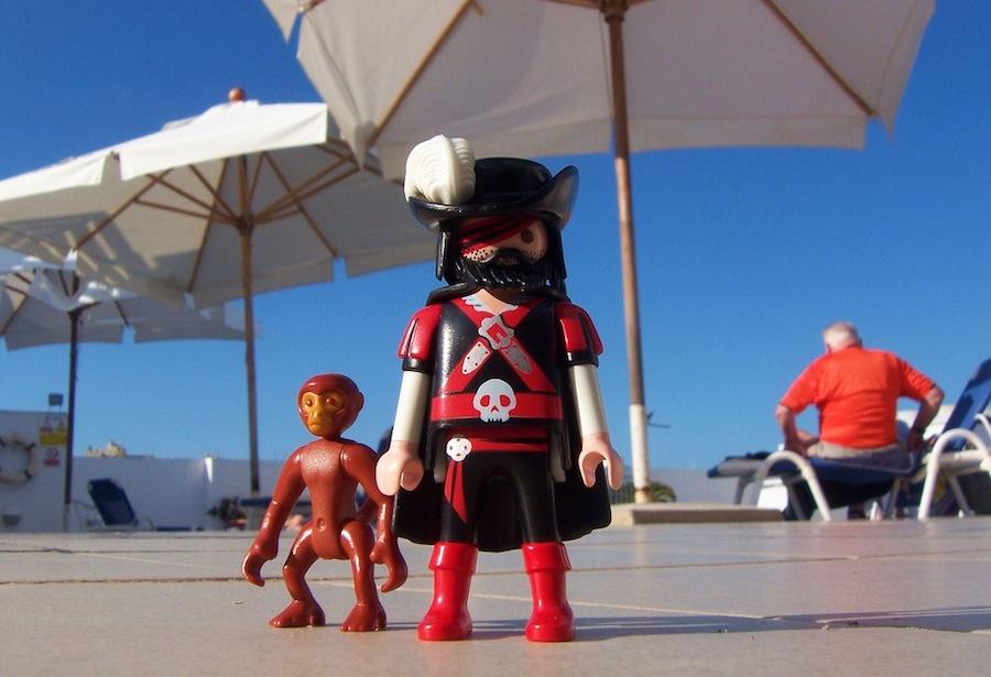 Impresionantes click tamaño real en el Playmobil FunPark de Malta. Foto de R D L.