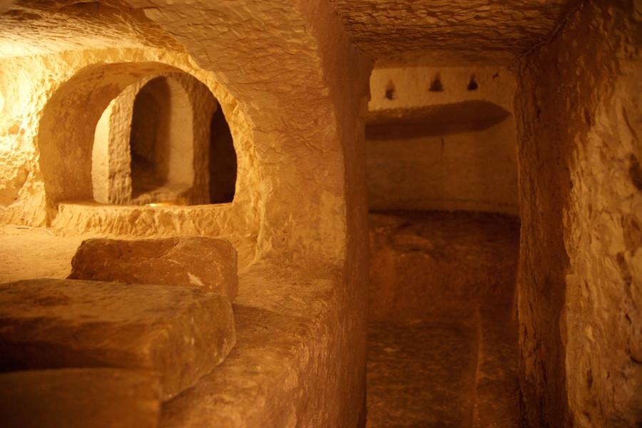 Catacumbas de San Pablo, una de las principales de todo el antiguo Imperio Romano.