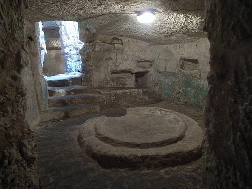 Una imagen de las catacumbas de San Pablo.