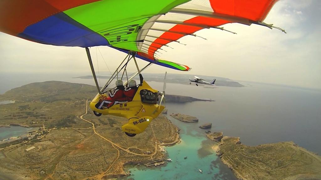 Vuelos en ultraligero y avioneta por los cielos de Malta y Gozo.