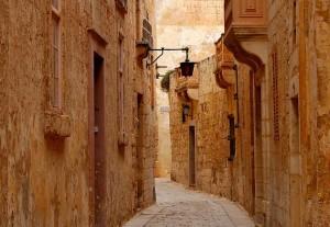 Cajejuelas de la ciudad medival de Mdina, en pleno centro de Malta.