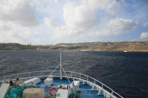 Gozo desde el ferry que la une con Malta.