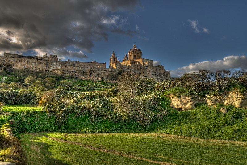 Mdina domina todo el centro de Malta. Foto de