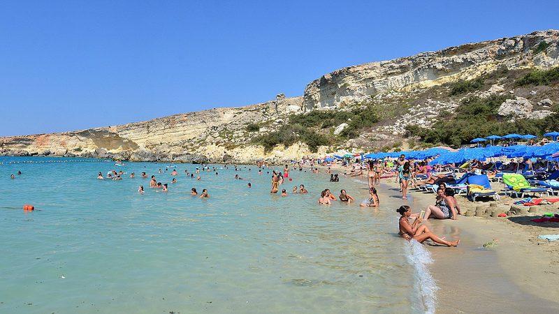 Playa Paradise, en Mellieha. El principal, que no el único, atractivo de Malta.
