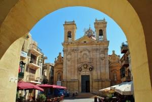 Catedral de Gozo, en el casco antiguo de Victoria.